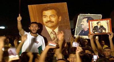 البصرة :تمنع رفع صور صدام حسين وتتوعد المخالفين