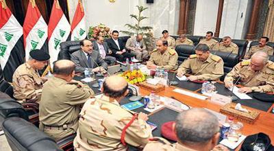 المالكي ..يجتمع اليوم مع القادة الأمنيين