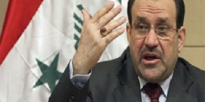 """المالكي يطالب العراقية بـ""""تخويل"""" من المتظاهرين"""