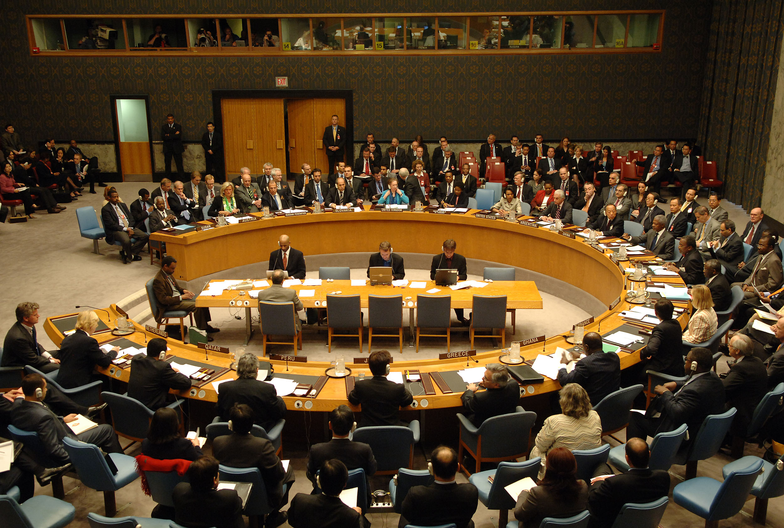 مجلس الامن الدولي يبحث وضع القضية الفلسطينية والمأساة السورية
