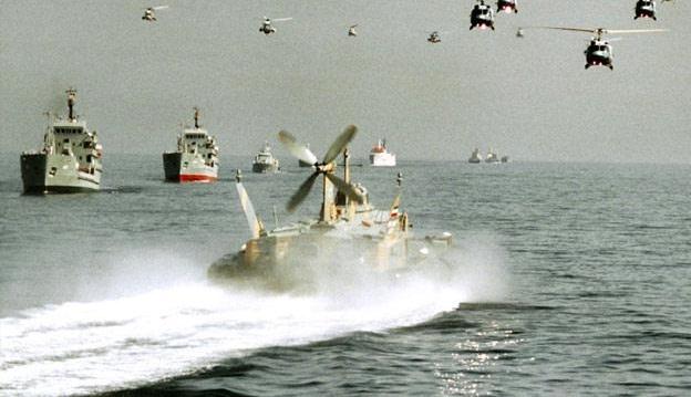 مناورات البحرية الإيرانية تجتاح المحيط الهادئ
