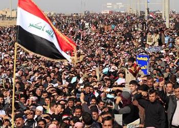 متظاهرو  الجمعة : الزحف السلمي إلى بغداد لأداء الصلاة الموحدة