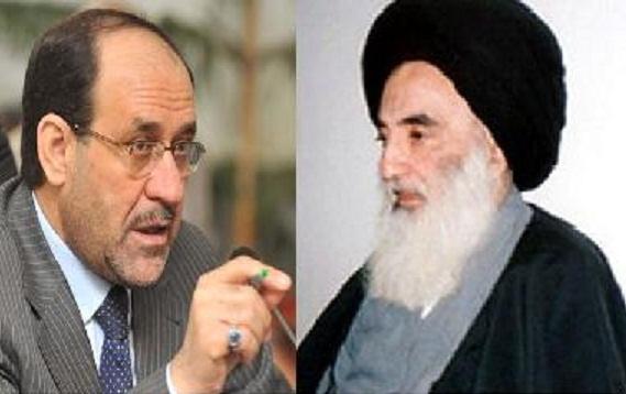 السيد السيستاني يوجه رساله تتصف بالحزم والشدة الى رئيس مجلس الوزراء نوري المالكي
