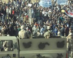محاصرة ساحة الاعتصامات في صلاح الدين