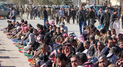 ديالى تشهد صلاة موحدة في 9 وحدات ادارية والاهالي يطالبون بتدويل مطالبهم