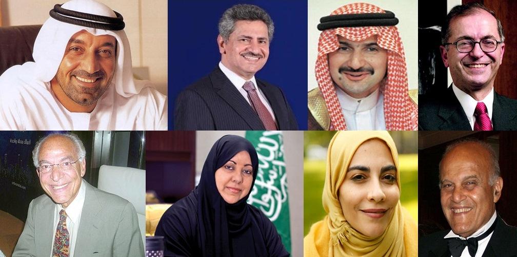 """قائمة """"جولف بيزنيس"""" لأقوى 100 شخصية الأكثر نفوذا في المنطقة العربية لعام 2013"""