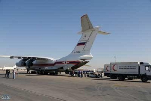 وصول 11 طن من المساعدات الانسانيه الى سوريا