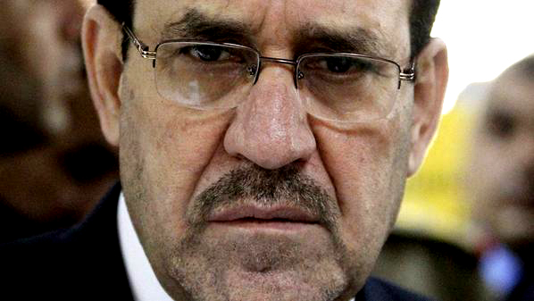File photo of Iraq's PM Maliki inside Baghdad's heavily-fortified Green Zone