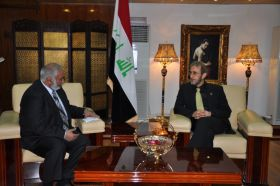 وزير الثقافة يبحث مع مسؤول ليبي الاستعداد الجارية لافتتاح فعاليات بغداد عاصمة للثقافة العربية
