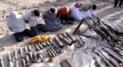اعتقال أكثر من 60 مطلوباً وضبط العشرات من العبوات الناسفة وصواريخ في الموصل