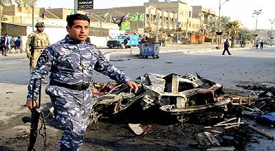 جرح 6 من عناصر الصحوة بتفجير انتحاري قرب تكريت