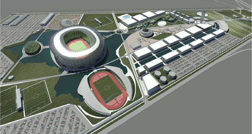 افتتاح المدينة الرياضية يحتاج إلى ثلاثة أشهر إضافية