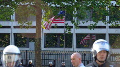 دعوة للتظاهر والاعتصام امام السفارة الامريكية في العاصمة البلجيكية / بروكسل
