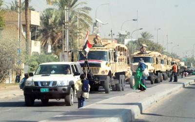 وصول اليات عسكرية لمحافظة الانبار واحتمال تكرار مشهد الحويجة