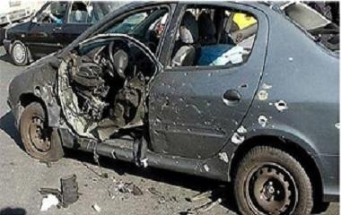 اصابة رجل وزوجته بجروح من جراء انفجار عبوة لاصقة بسيارتهما