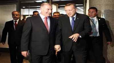 اردوغان والنجيفي بحثا  تداعيات الوضع الاقليمي