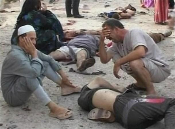 مصدر امني :حصيلة تفجيرات بغداد يوم امس 132 قتيلا و109 جريحا