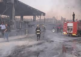 اندلاع حريق كبير بمصفاة نفط بازيان
