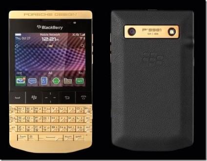 بلاكبيري تطلق هاتفاً جديداً مغلفاً بالذهب 24 قيراط …