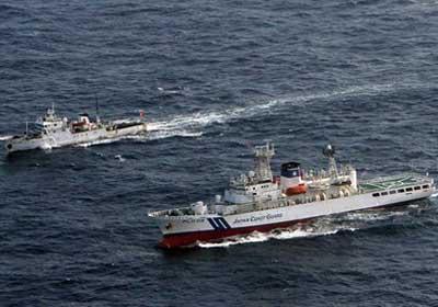 السفن الحربية الصينية تدخل مياه جزر سينكاكو