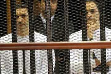 تأجيل محاكمة مبارك ونجليه واخرين الى الاثنين المقبل