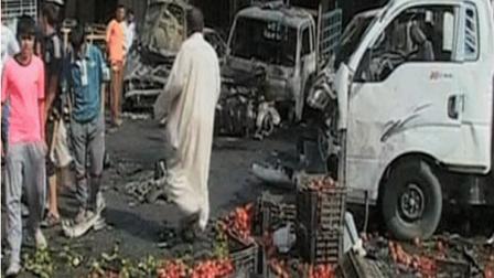 عاجل ..قتلى وجرحى في سوق شعبي بمنطقة التاجي نتيجة انفجار عبوتين ناسفتين