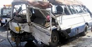 مقتل 10 أشخاص وإصابة 3 بجروح بحادث مروري غرب الناصرية