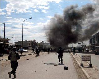 استشهاد واصابة 12 مواطن بانفجار عبوتين ناسفتين في المدائن