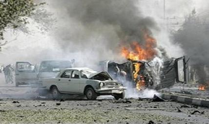 انفجار سيارة مفخخة في حي الاعلام جنوب غربي بغداد