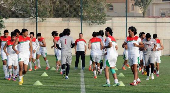 المنتخب الوطني يصل الدمام ويجري وحدة تدريبية مسائية