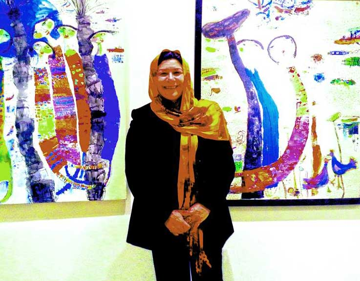 الفنانة العراقية يسرى العبادي تشرق على المركز الثقافي الفرنسي  في بغداد