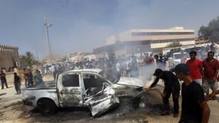 تفجير انتحاري قرب مركز عسكري في مدينة بنغازي الليبية