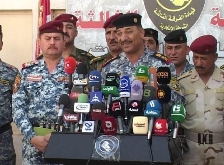 الفريق مهدي الغراوي: تنظيمات داعش الإرهابية كانت تنوي السيطرة على مدن نينوى