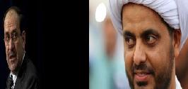 المالكي يلتقي قيس الخزعلي زعيم ميليشيا عصائب اهل الحق!!
