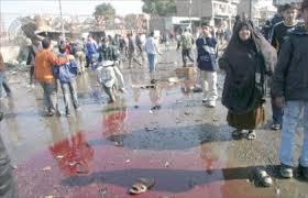شباب العراق يفترشون بوابة البيت الأبيض بدماء الأبرياء من بلادهم