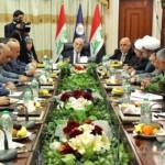 قادة التحالف الشيعي خلال اجتماعهم برئاسة الجعفري وحضور العبادي