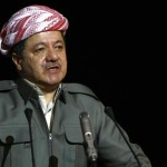Iraqi Kurdish leader Massud Barzani spea
