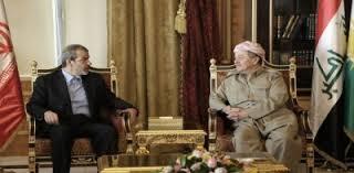 البرزاني وفر يبحثان تعزيز العلاقات بين طهران واربيل