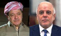 العبادي والبرزاني يؤكدان على التنسيق بين بغداد واربيل