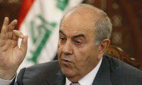 علاوي:العراق بلا دولة ومن لديه مشكلة عليه الذهاب للحشد الشعبي أو سفارتي أمريكا وإيران!