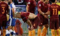 روما بتسعة لاعبين يخفق في التأهل لدوري الأبطال