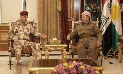 البرزاني والغانمي يؤكدان على التنسيق والتعاون في معركة تحرير الموصل