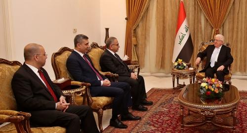 معصوم يدعو الى تعزيز مكانة العراق الدولية وحشد الدعم العالمي لإعادة إعماره