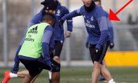 صحفية إسبانية:رونالدو تعرض لضربة قوية في يده اليمني أثناء تدريبات الفريق