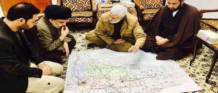 بالصورة.. المهندس يجتمع بالصدر لمناقشة سير عمليات تحرير الموصل!