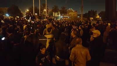 اعتصاما في ساحة التحرير للمطالبة بحماية المواطنين