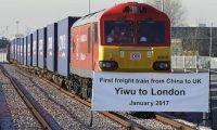 أول قطار بضائع صيني يصل لندن