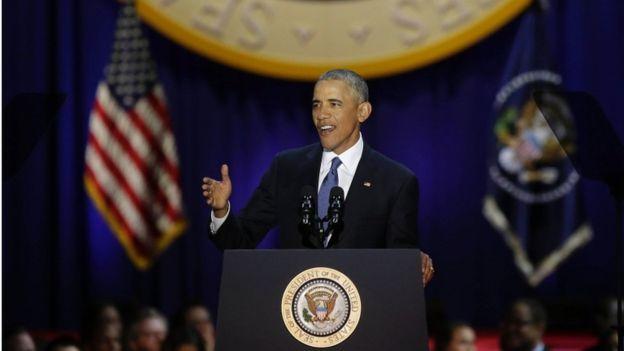 """في خطاب الوداع..أوباما:العنصرية لا تزال """"عاملا تقسيميا"""" في المجتمع الأميركي"""