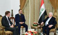 معصوم يدعو الى تعزيز العلاقات بين العراق وموطنه الثاني بريطانيا