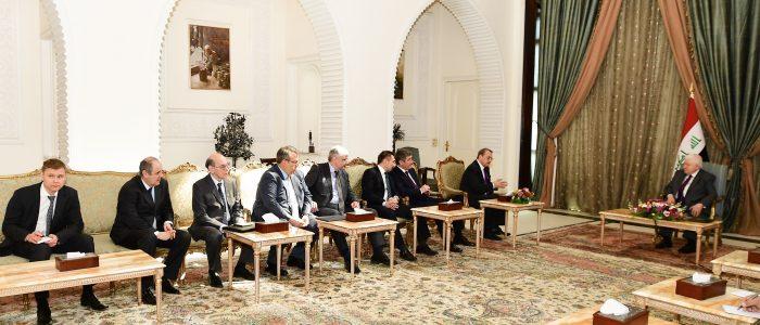 معصوم يؤكد على أهمية التعاون المعلوماتي والاستخباري بين العراق وروسيا